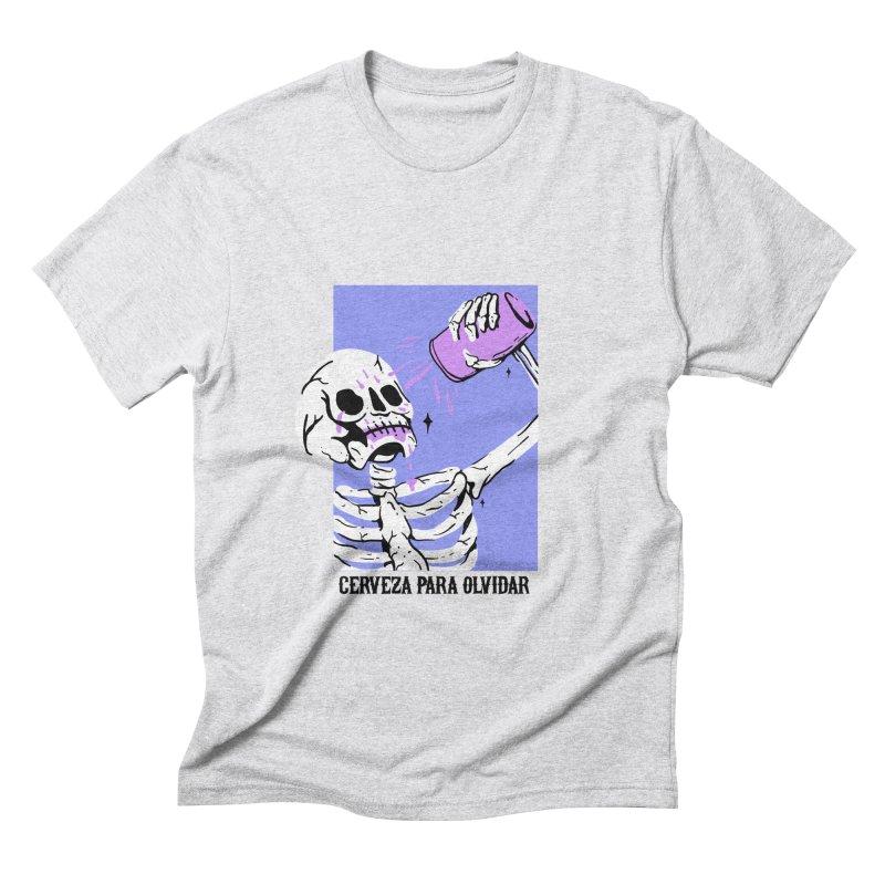 CERBEZA PARA OLVIDAR Men's Triblend T-shirt by Mico Jones Artist Shop