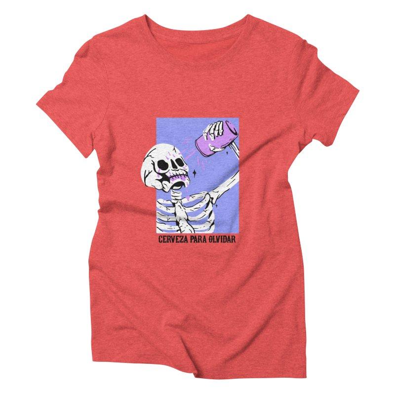 CERBEZA PARA OLVIDAR Women's Triblend T-shirt by Mico Jones Artist Shop