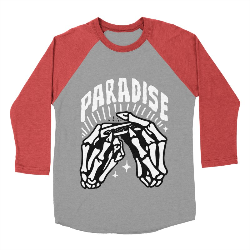PARADISE 2 Women's Baseball Triblend Longsleeve T-Shirt by Mico Jones Artist Shop