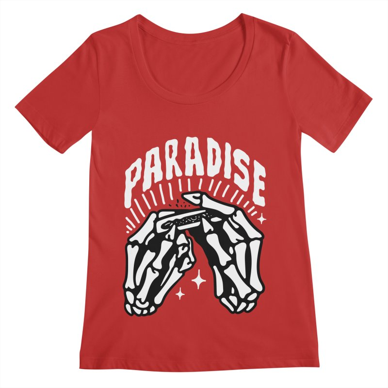 PARADISE 2 Women's Scoop Neck by Mico Jones Artist Shop