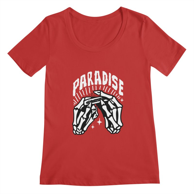 PARADISE 2 Women's Scoopneck by Mico Jones Artist Shop