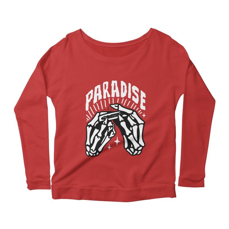 PARADISE 2 Women's Longsleeve Scoopneck  by Mico Jones Artist Shop