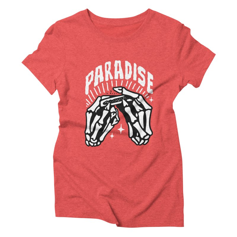PARADISE 2 Women's Triblend T-Shirt by Mico Jones Artist Shop
