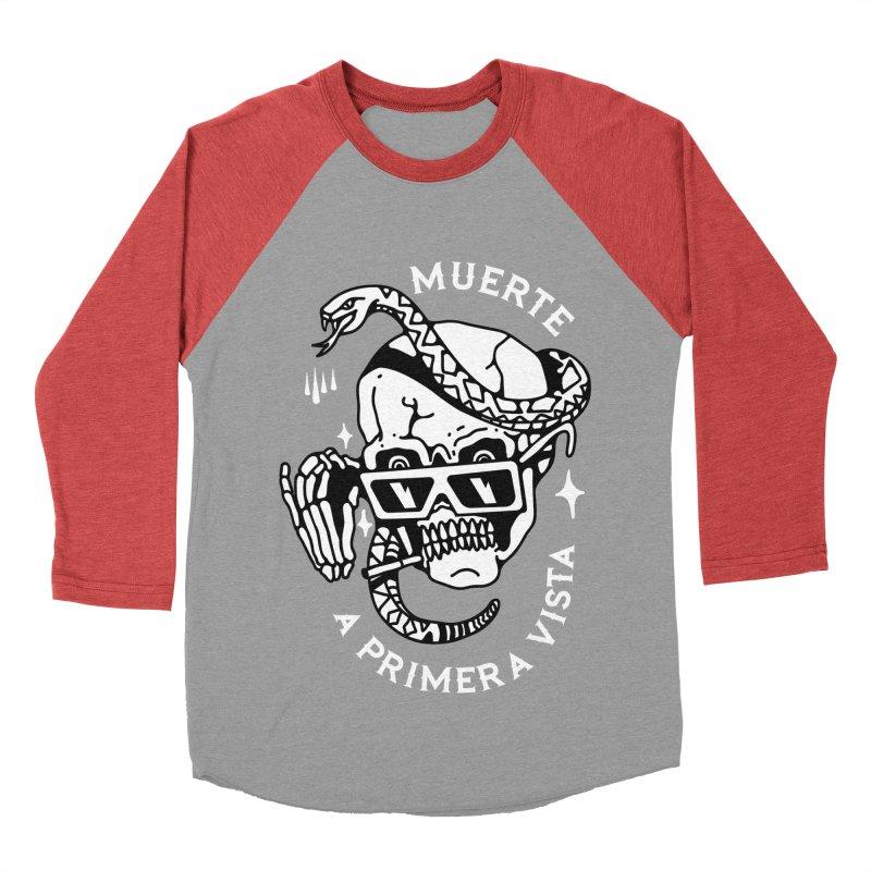 DEATH AT FIRST SIGHT Women's Baseball Triblend Longsleeve T-Shirt by Mico Jones Artist Shop
