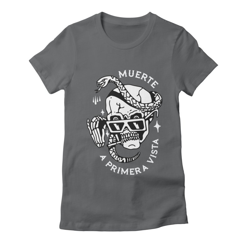 DEATH AT FIRST SIGHT Women's Fitted T-Shirt by Mico Jones Artist Shop