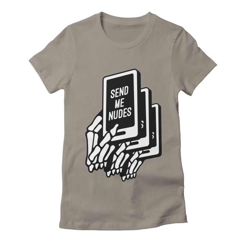 SEND ME NUDES INTERLUDE Women's Fitted T-Shirt by Mico Jones Artist Shop