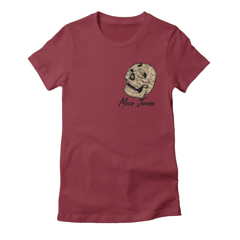 DEAD Women's Fitted T-Shirt by Mico Jones Artist Shop