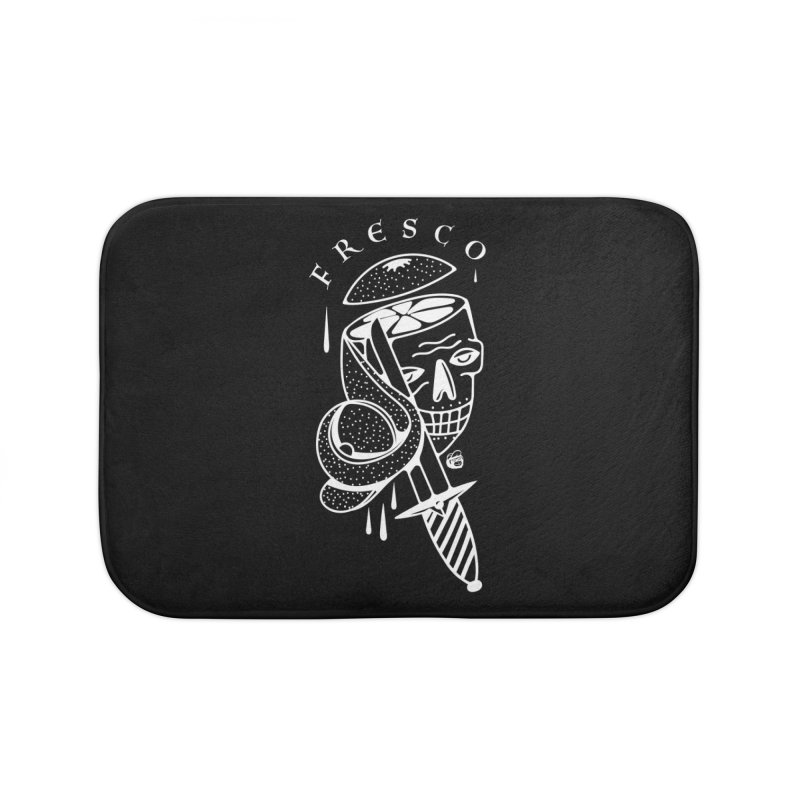 BLACKFRESCO Home Bath Mat by Mico Jones Artist Shop