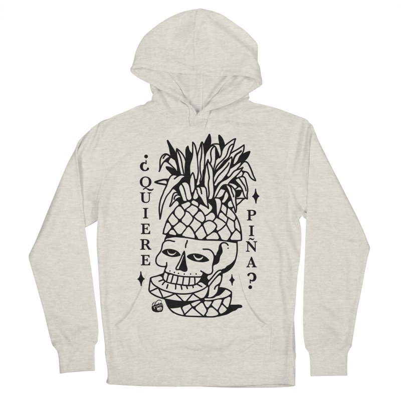 do you want pineapple Women's French Terry Pullover Hoody by Mico Jones Artist Shop