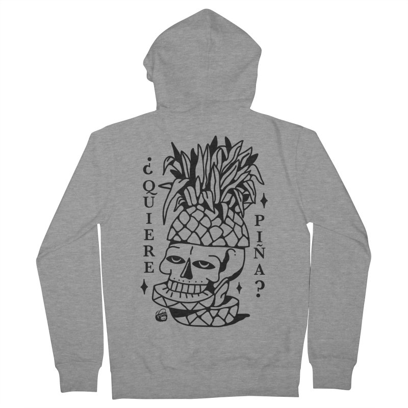 do you want pineapple Women's French Terry Zip-Up Hoody by Mico Jones Artist Shop