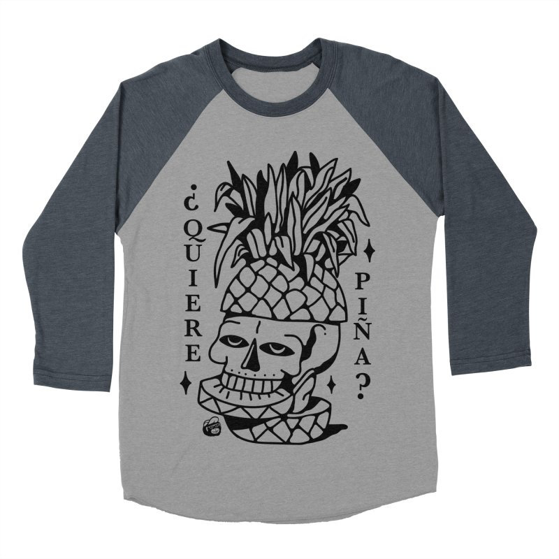 do you want pineapple Women's Baseball Triblend Longsleeve T-Shirt by Mico Jones Artist Shop