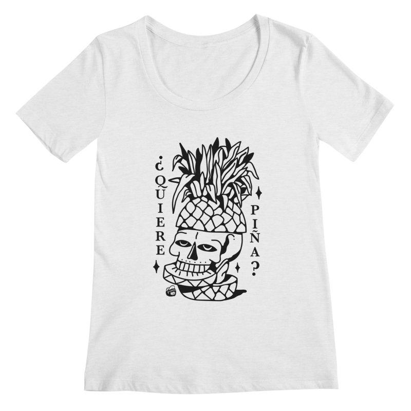 do you want pineapple Women's Regular Scoop Neck by Mico Jones Artist Shop