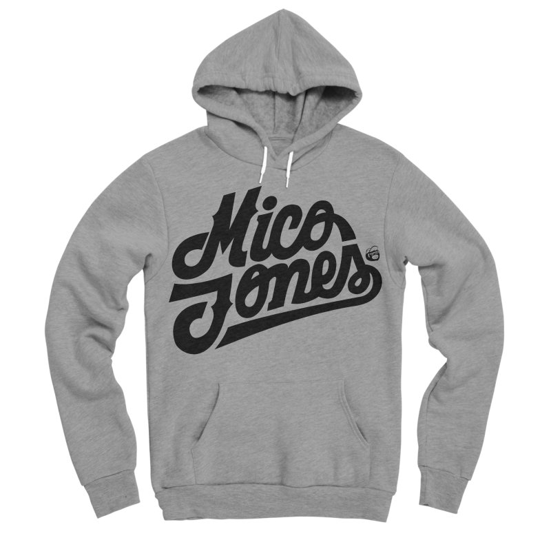 MICO JONES FIRM BLACK Men's Sponge Fleece Pullover Hoody by Mico Jones Artist Shop