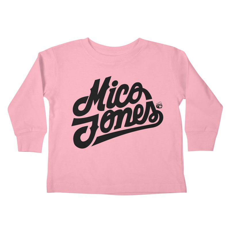 MICO JONES FIRM BLACK Kids Toddler Longsleeve T-Shirt by Mico Jones Artist Shop