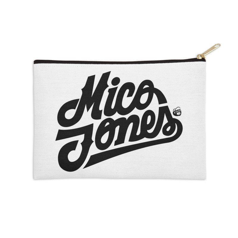 MICO JONES FIRM BLACK Accessories Zip Pouch by Mico Jones Artist Shop