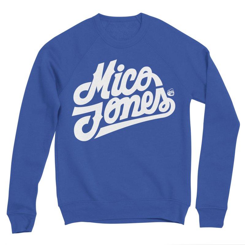 MICO JONES FIRM WHITE Men's Sponge Fleece Sweatshirt by Mico Jones Artist Shop