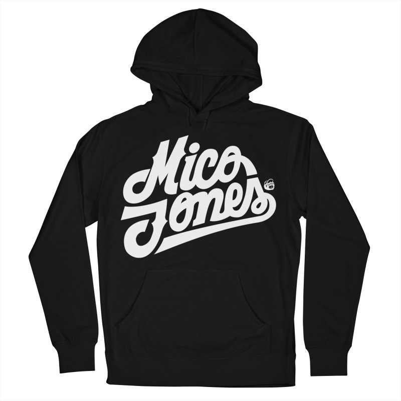 MICO JONES FIRM WHITE Men's French Terry Pullover Hoody by Mico Jones Artist Shop