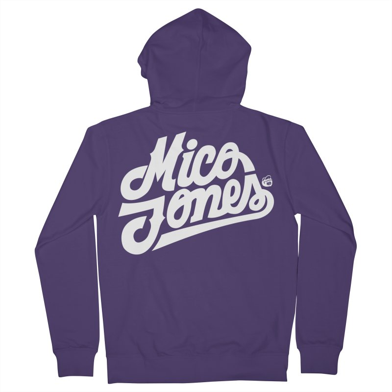 MICO JONES FIRM WHITE Women's French Terry Zip-Up Hoody by Mico Jones Artist Shop