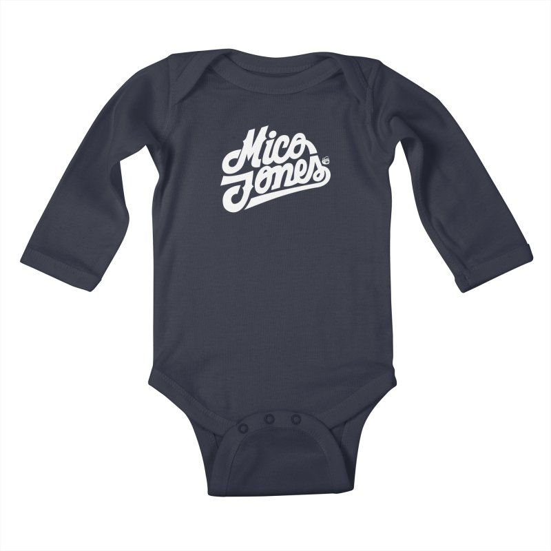 MICO JONES FIRM WHITE Kids Baby Longsleeve Bodysuit by Mico Jones Artist Shop