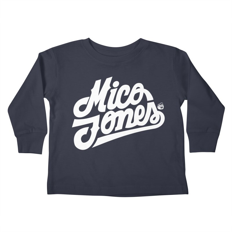 MICO JONES FIRM WHITE Kids Toddler Longsleeve T-Shirt by Mico Jones Artist Shop