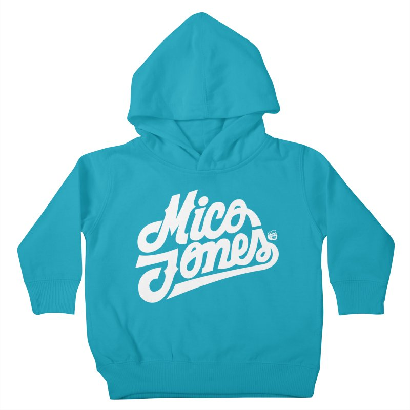 MICO JONES FIRM WHITE Kids Toddler Pullover Hoody by Mico Jones Artist Shop