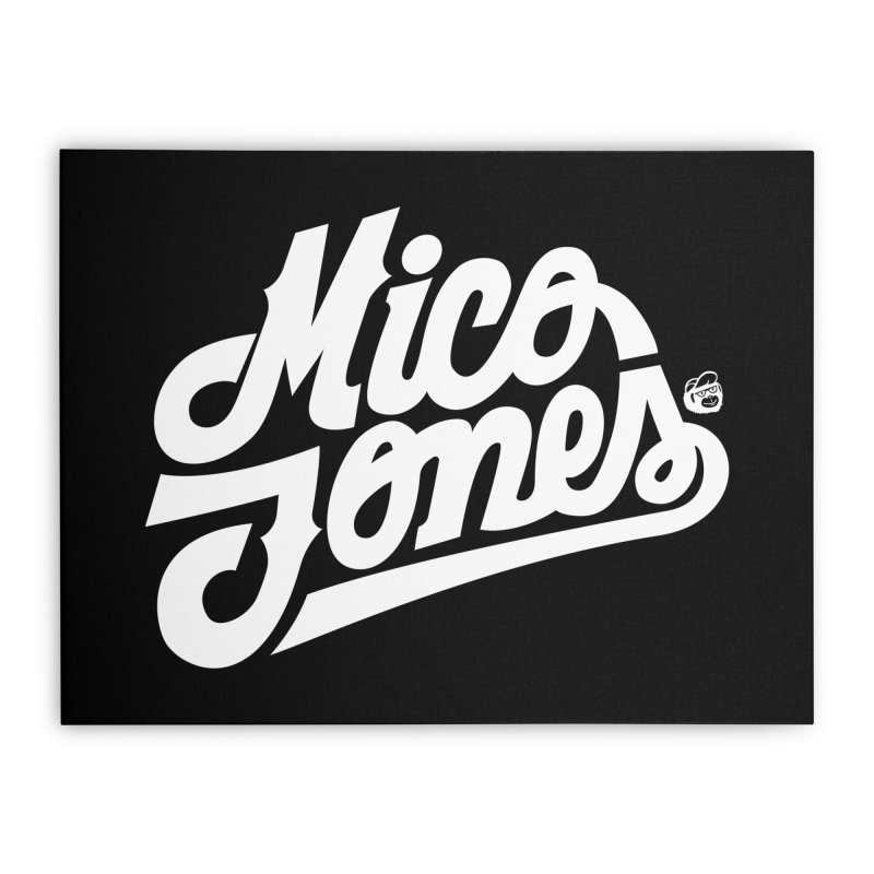 MICO JONES FIRM WHITE Home Stretched Canvas by Mico Jones Artist Shop