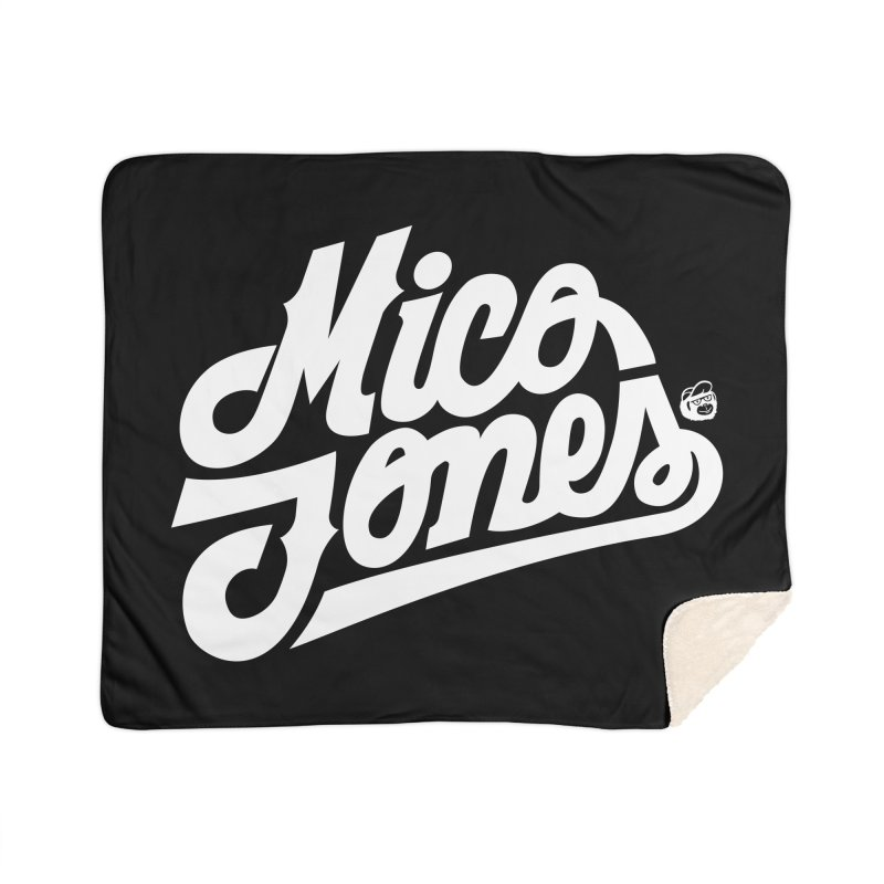 MICO JONES FIRM WHITE Home Sherpa Blanket Blanket by Mico Jones Artist Shop