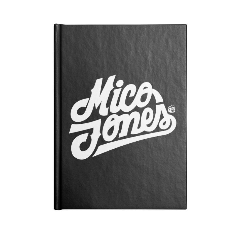 MICO JONES FIRM WHITE Accessories Lined Journal Notebook by Mico Jones Artist Shop