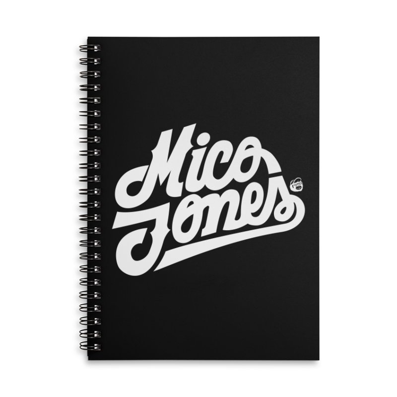 MICO JONES FIRM WHITE Accessories Notebook by Mico Jones Artist Shop