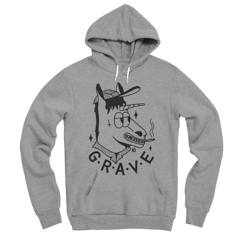 GRAVE Men's Pullover Hoody by Mico Jones Artist Shop