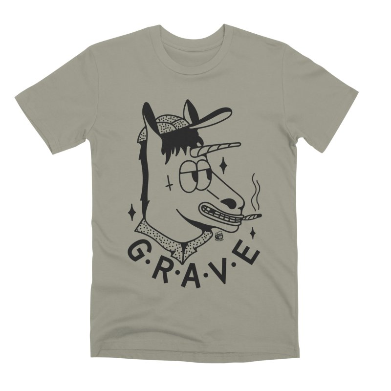 GRAVE Men's Premium T-Shirt by Mico Jones Artist Shop
