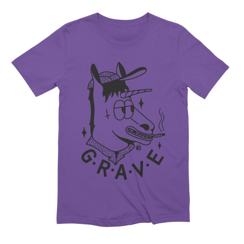 GRAVE Men's Extra Soft T-Shirt by Mico Jones Artist Shop