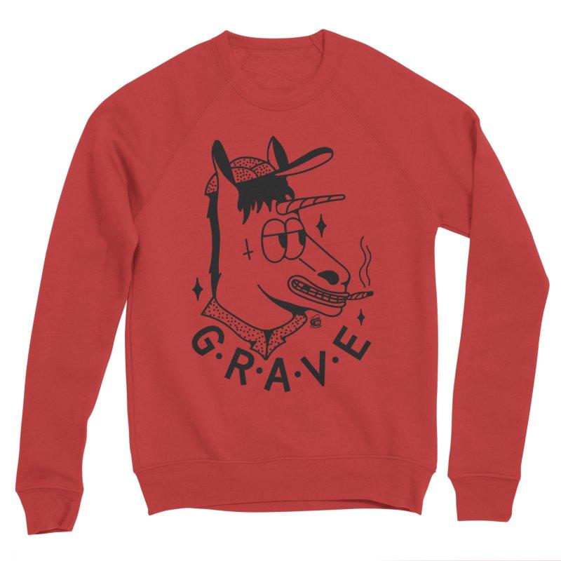 GRAVE Men's Sponge Fleece Sweatshirt by Mico Jones Artist Shop