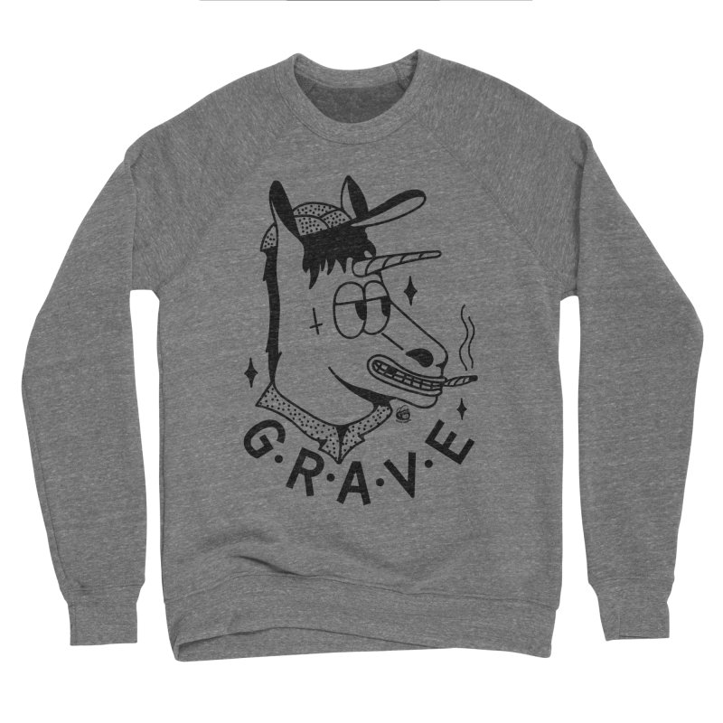 GRAVE Men's Sponge Fleece Sweatshirt by Mico Jones Artist Shop
