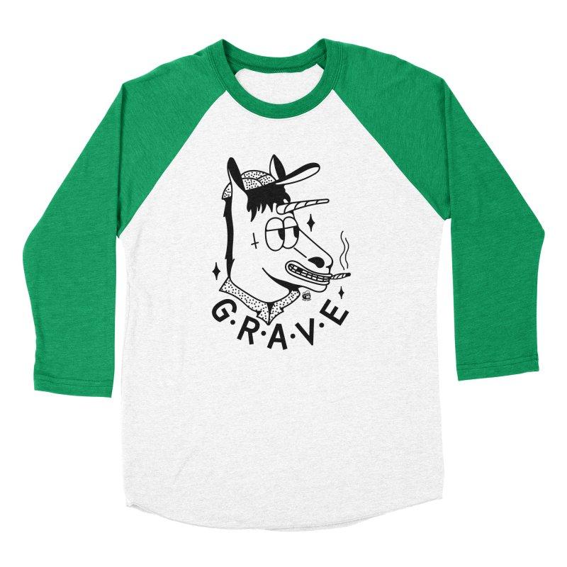 GRAVE Men's Baseball Triblend Longsleeve T-Shirt by Mico Jones Artist Shop
