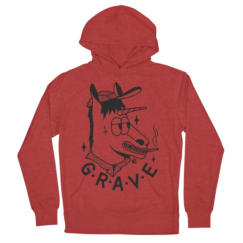 GRAVE Men's French Terry Pullover Hoody by Mico Jones Artist Shop