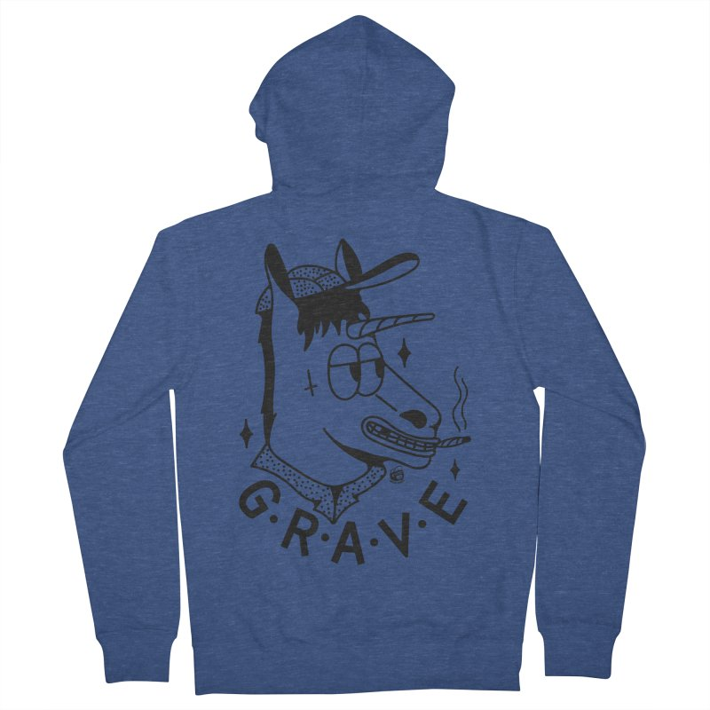GRAVE Women's French Terry Zip-Up Hoody by Mico Jones Artist Shop