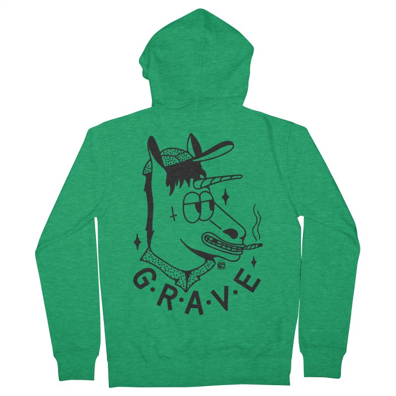 GRAVE Men's Zip-Up Hoody by Mico Jones Artist Shop