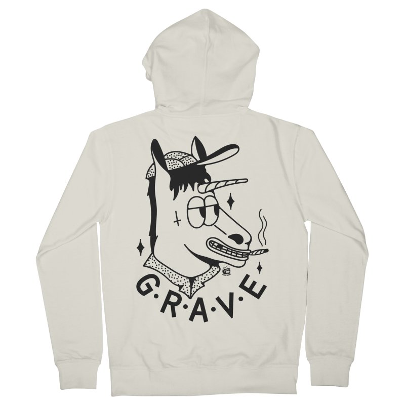 GRAVE Men's French Terry Zip-Up Hoody by Mico Jones Artist Shop