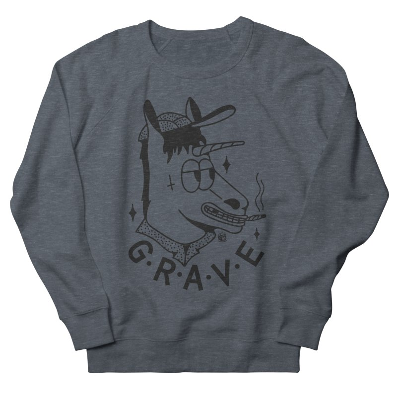 GRAVE Women's French Terry Sweatshirt by Mico Jones Artist Shop