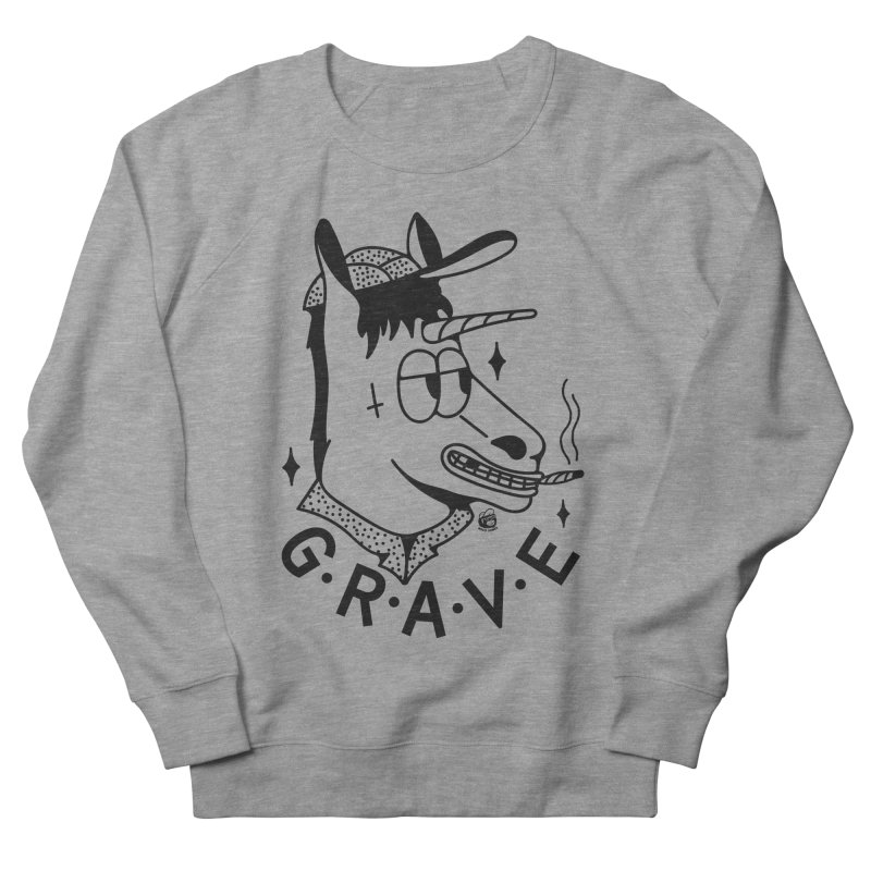 GRAVE Men's French Terry Sweatshirt by Mico Jones Artist Shop
