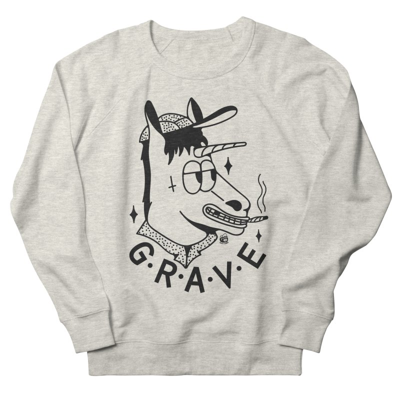 GRAVE Men's French Terry Sweatshirt by Mico Jones Artist Shop
