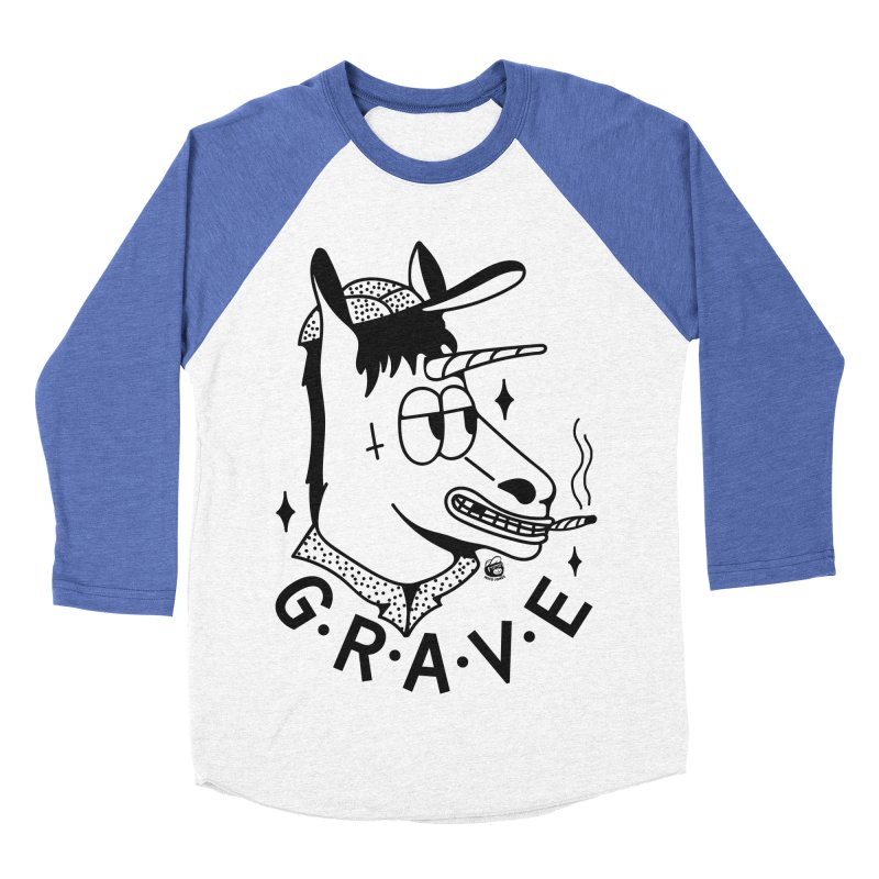 GRAVE Men's Baseball Triblend Longsleeve T-Shirt by Mico Jones Artist Shop