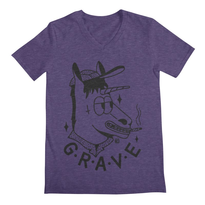 GRAVE Men's Regular V-Neck by Mico Jones Artist Shop
