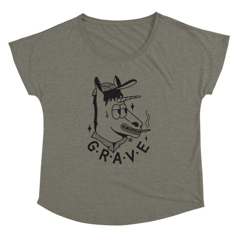 GRAVE Women's Scoop Neck by Mico Jones Artist Shop