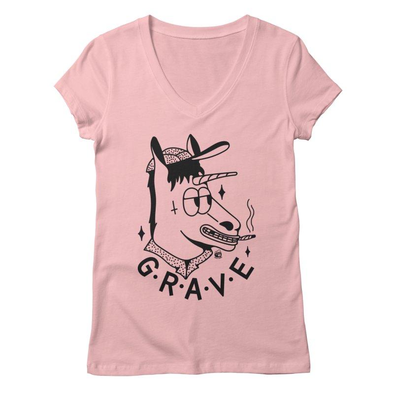 GRAVE Women's Regular V-Neck by Mico Jones Artist Shop