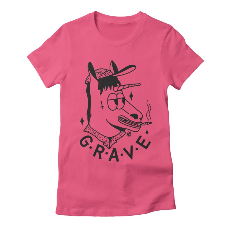 GRAVE Women's Fitted T-Shirt by Mico Jones Artist Shop