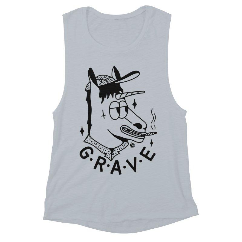 GRAVE Women's Muscle Tank by Mico Jones Artist Shop