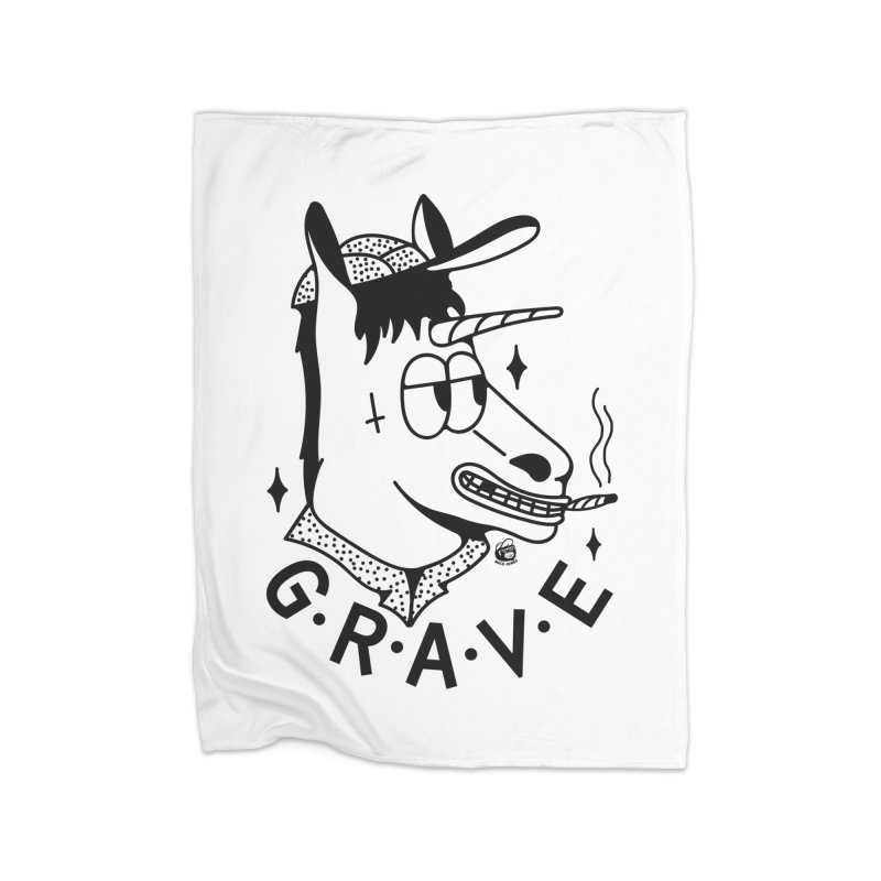 GRAVE Home Blanket by Mico Jones Artist Shop