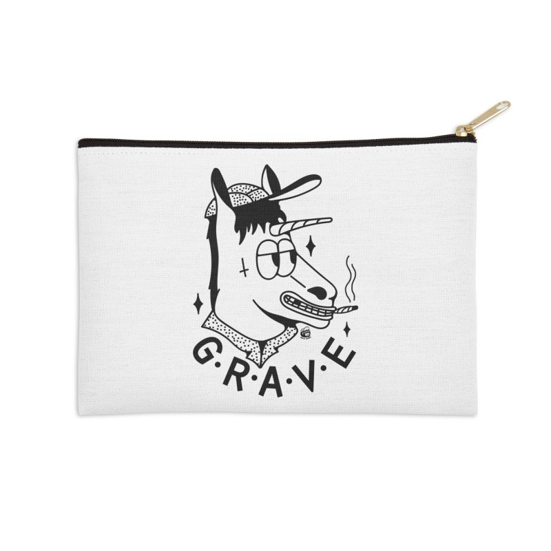 GRAVE Accessories Zip Pouch by Mico Jones Artist Shop